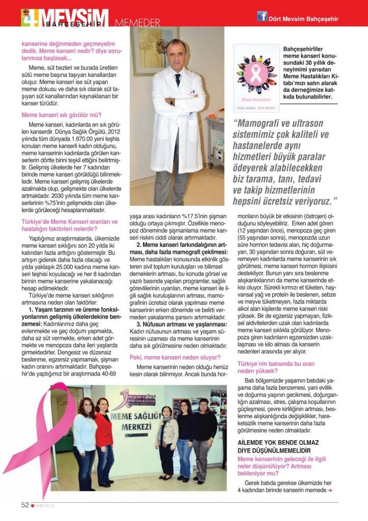 Bahçeşehir'de 105 Kadını Meme Kanserinden Kurtardık