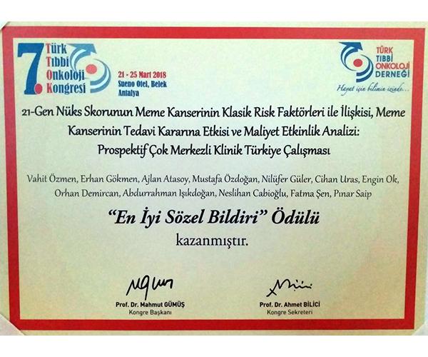 Türkiye'de Meme Kanseri